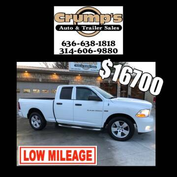 2012 RAM Ram Pickup 1500 for sale at CRUMP'S AUTO & TRAILER SALES in Crystal City MO