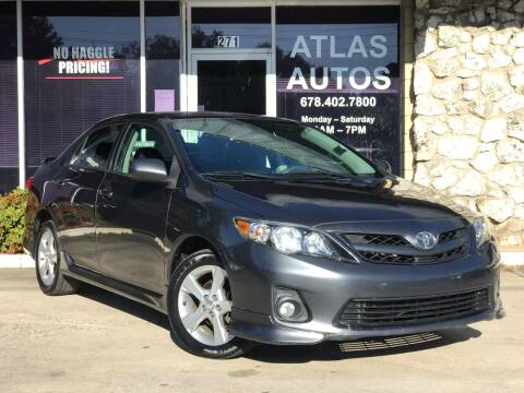 2011 Toyota Corolla for sale at ATLAS AUTOS in Marietta GA