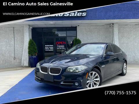 2016 BMW 5 Series for sale at El Camino Auto Sales Gainesville in Gainesville GA