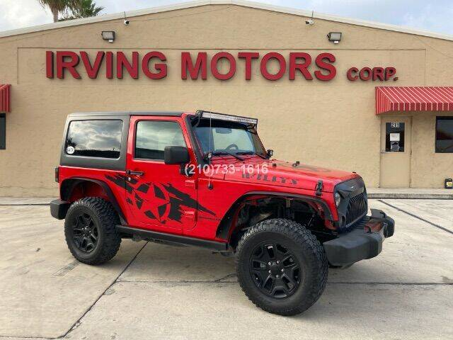 2017 Jeep Wrangler for sale at Irving Motors Corp in San Antonio TX