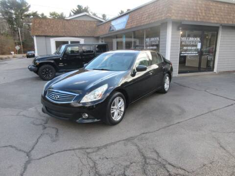 2011 Infiniti G25 Sedan for sale at Millbrook Auto Sales in Duxbury MA