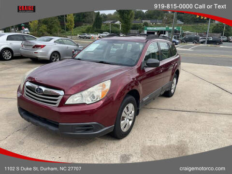 2011 Subaru Outback for sale at CRAIGE MOTOR CO in Durham NC