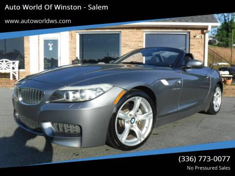 2013 BMW Z4 for sale at Auto World Of Winston - Salem in Winston Salem NC