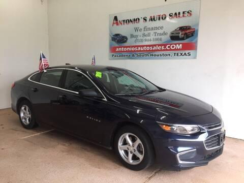 2016 Chevrolet Malibu for sale at Antonio's Auto Sales - Antonio`s  2206 in Pasadena TX