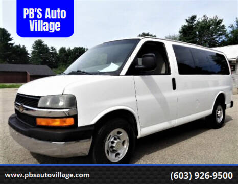 2013 Chevrolet Express Passenger for sale at PB'S Auto Village in Hampton Falls NH