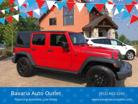 2016 Jeep Wrangler Unlimited for sale at Bavaria Auto Outlet in Victoria MN