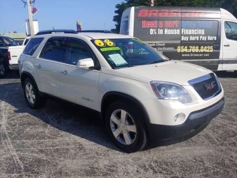 2008 GMC Acadia for sale at Brascar Auto Sales in Pompano Beach FL
