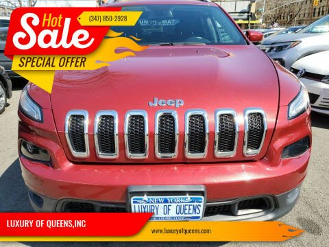 2017 Jeep Cherokee for sale at LUXURY OF QUEENS,INC in Long Island City NY