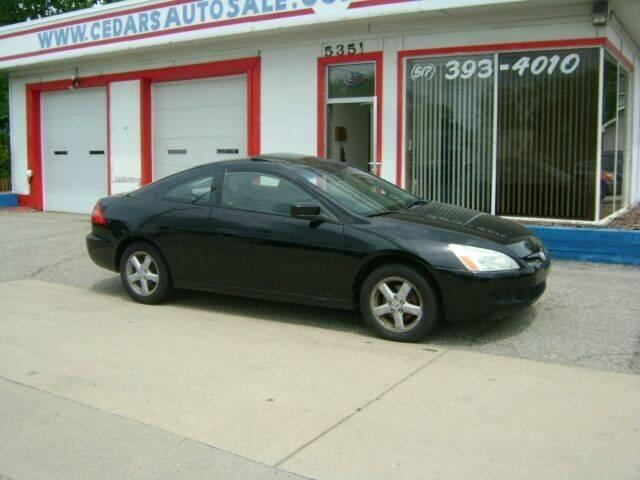 2003 Honda Accord for sale at Cedar Auto Sales in Lansing MI