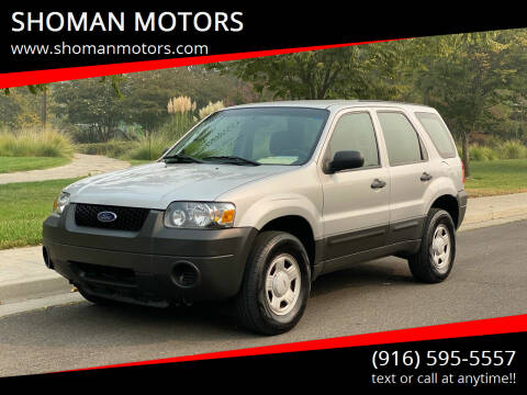 2007 Ford Escape for sale at SHOMAN MOTORS in Davis CA