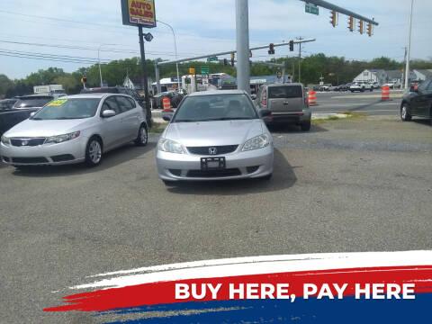 2004 Honda Civic for sale at Marino's Auto Sales in Laurel DE