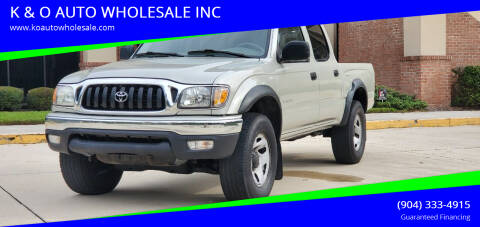 2002 Toyota Tacoma for sale at K & O AUTO WHOLESALE INC in Jacksonville FL