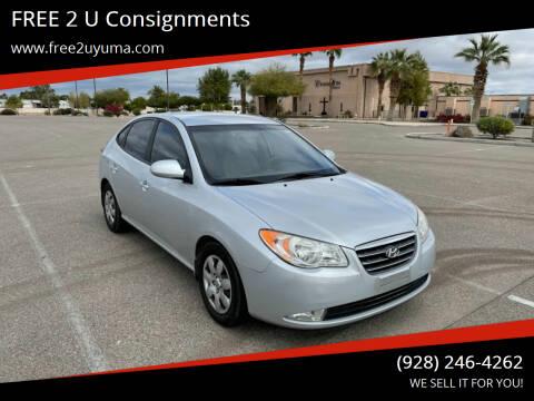 2007 Hyundai Elantra for sale at FREE 2 U Consignments in Yuma AZ
