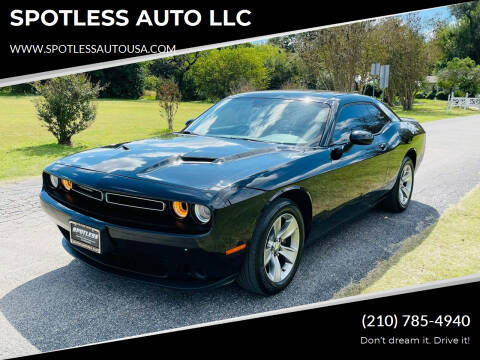 2018 Dodge Challenger for sale at SPOTLESS AUTO LLC in San Antonio TX