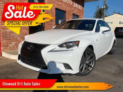 2015 Lexus IS 350 for sale at Elmwood D+J Auto Sales in Agawam MA