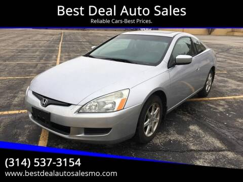 2003 Honda Accord for sale at Best Deal Auto Sales in Saint Charles MO