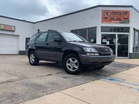 2000 Lexus RX 300 for sale at HIGHLINE AUTO LLC in Kenosha WI