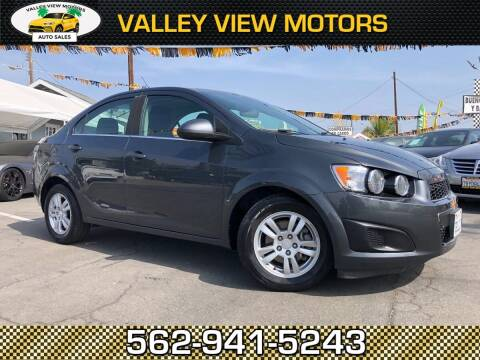 2013 Chevrolet Sonic for sale at Valley View Motors in Whittier CA