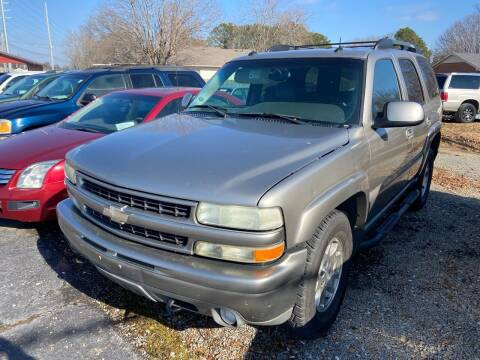 2003 Chevrolet Tahoe for sale at Sartins Auto Sales in Dyersburg TN
