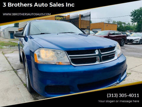 2012 Dodge Avenger for sale at 3 Brothers Auto Sales Inc in Detroit MI