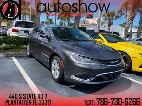 2015 Chrysler 200 for sale at AUTOSHOW SALES & SERVICE in Plantation FL