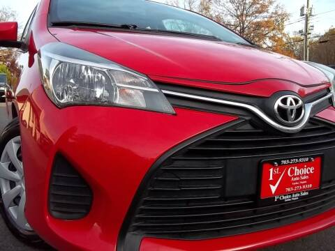 2015 Toyota Yaris for sale at 1st Choice Auto Sales in Fairfax VA