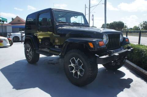 2002 Jeep Wrangler for sale at Dream Machines USA in Lantana FL