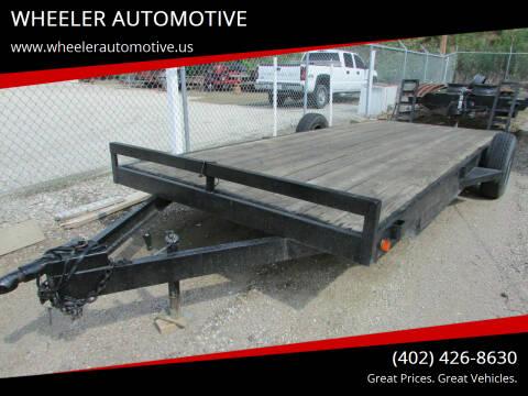 2009 Custom Built Trailer 30' Bumper Hitch for sale at WHEELER AUTOMOTIVE in Blair NE