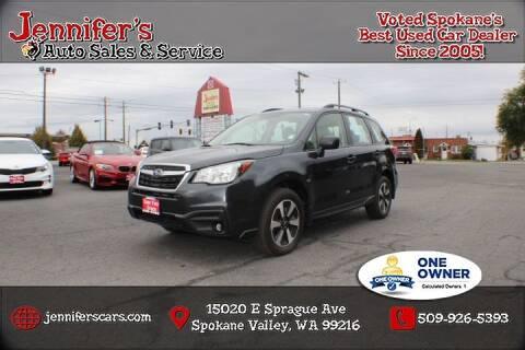 2017 Subaru Forester for sale at Jennifer's Auto Sales in Spokane Valley WA