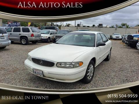 2001 Buick Century for sale at ALSA Auto Sales in El Cajon CA