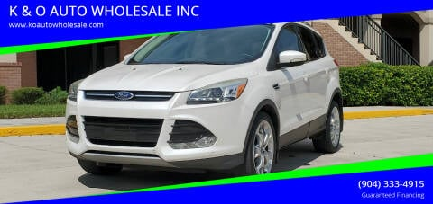 2013 Ford Escape for sale at K & O AUTO WHOLESALE INC in Jacksonville FL