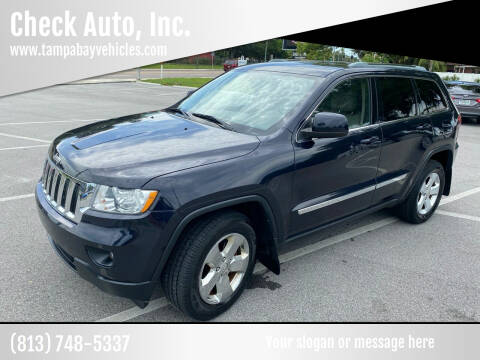 2011 Jeep Grand Cherokee for sale at CHECK  AUTO INC. in Tampa FL