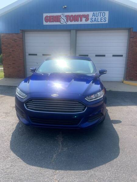 2016 Ford Fusion for sale at GENE AND TONYS DEMOTTE AUTO SALES in Demotte IN