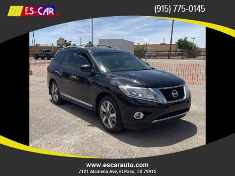 2015 Nissan Pathfinder for sale at Escar Auto in El Paso TX