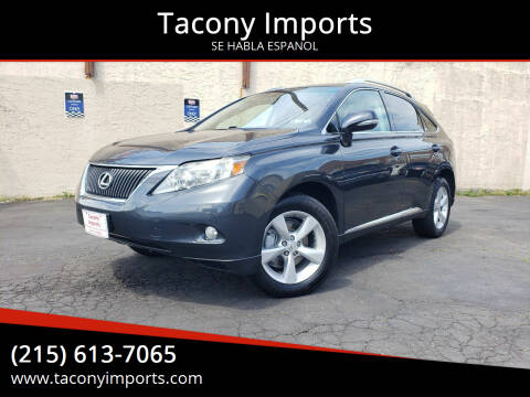 2010 Lexus RX 350 for sale at Tacony Imports in Philadelphia PA