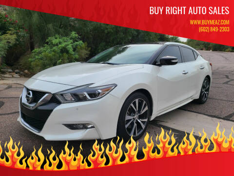 2016 Nissan Maxima for sale at BUY RIGHT AUTO SALES in Phoenix AZ
