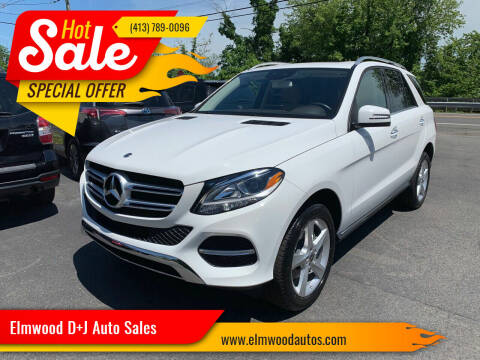 2018 Mercedes-Benz GLE for sale at Elmwood D+J Auto Sales in Agawam MA