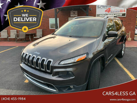 2014 Jeep Cherokee for sale at Cars4Less GA in Alpharetta GA
