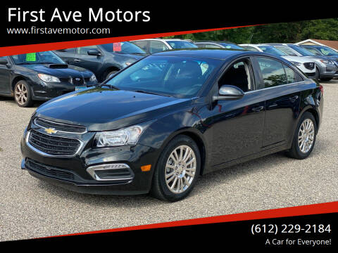 2015 Chevrolet Cruze for sale at First Ave Motors in Shakopee MN