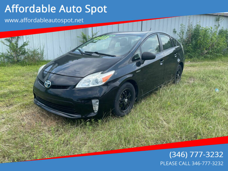 2014 Toyota Prius for sale at Affordable Auto Spot in Houston TX