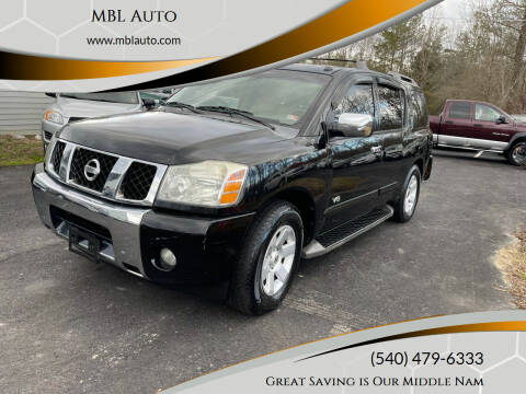 2006 Nissan Armada for sale at MBL Auto in Fredericksburg VA
