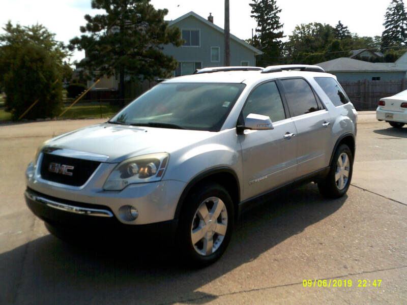 2007 GMC Acadia for sale at Fred Elias Auto Sales in Center Line MI