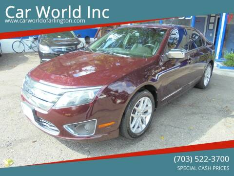 2012 Ford Fusion for sale at Car World Inc in Arlington VA