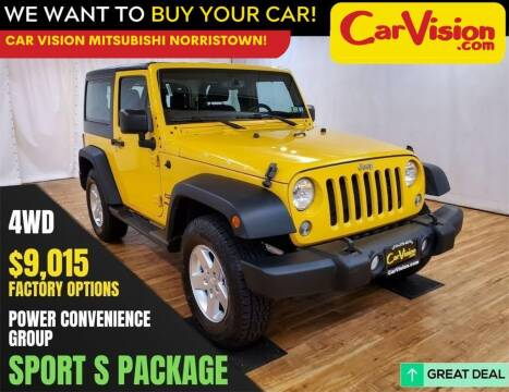 2015 Jeep Wrangler for sale at Car Vision Mitsubishi Norristown in Trooper PA
