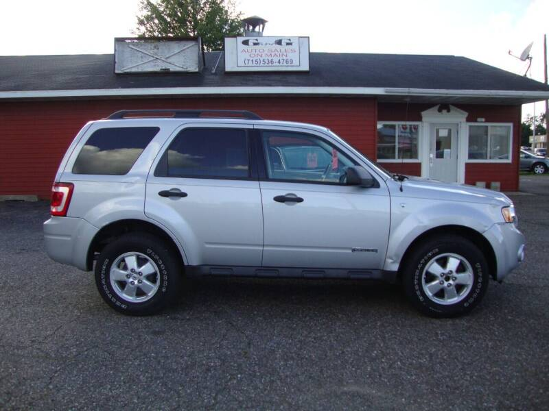 2008 Ford Escape for sale at G and G AUTO SALES in Merrill WI