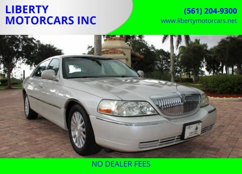 2004 Lincoln Town Car for sale at LIBERTY MOTORCARS INC in Royal Palm Beach FL