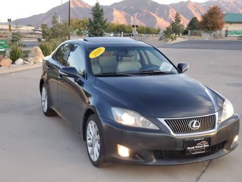 2010 Lexus IS 250 for sale at FRESH TREAD AUTO LLC in Springville UT