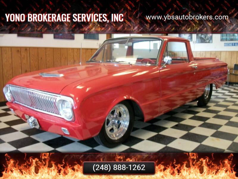 1962 Ford Ranchero for sale at Yono Brokerage Services, INC in Farmington MI