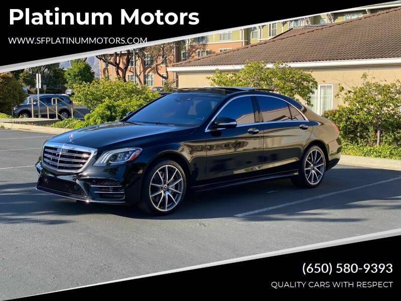 2018 Mercedes-Benz S-Class for sale at Platinum Motors in San Bruno CA