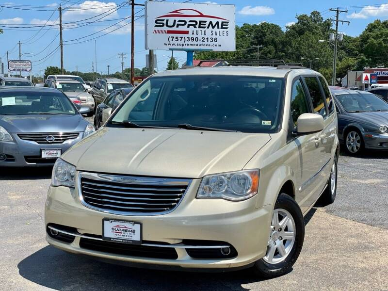 2012 Chrysler Town and Country for sale at Supreme Auto Sales in Chesapeake VA